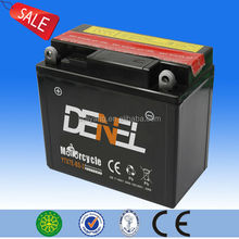 maintenance free dry charged 12v 7ah motorcycle storage battery(YTX7E-BS)