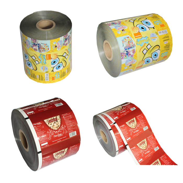 food grade plastic printed bopp film roll scrap