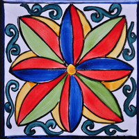 turkish hand painted ceramic wall tiles for wash basin