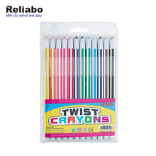 Reliabo Trending Hot Products Durable Striped Non-Toxic 12 Color Twist Wax Crayons