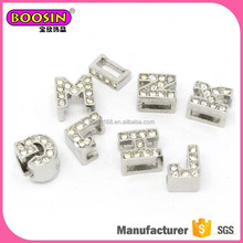 Manufacture supply alphabet charms, charms for beaded bracelets