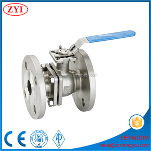 Lever operated 2pc industrial stainless steel floating ball valve