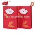 Custom voice recordable greeting cards with flash led