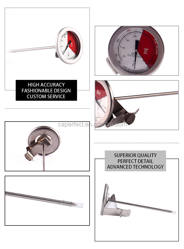 High quality home kitchen metal thermometer meat smokehouse ovens thermometer stove thermometer