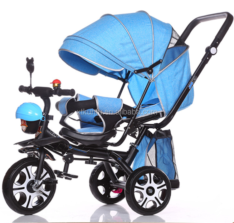Baby stroller tricycle kids tricycle with mum bag for sale