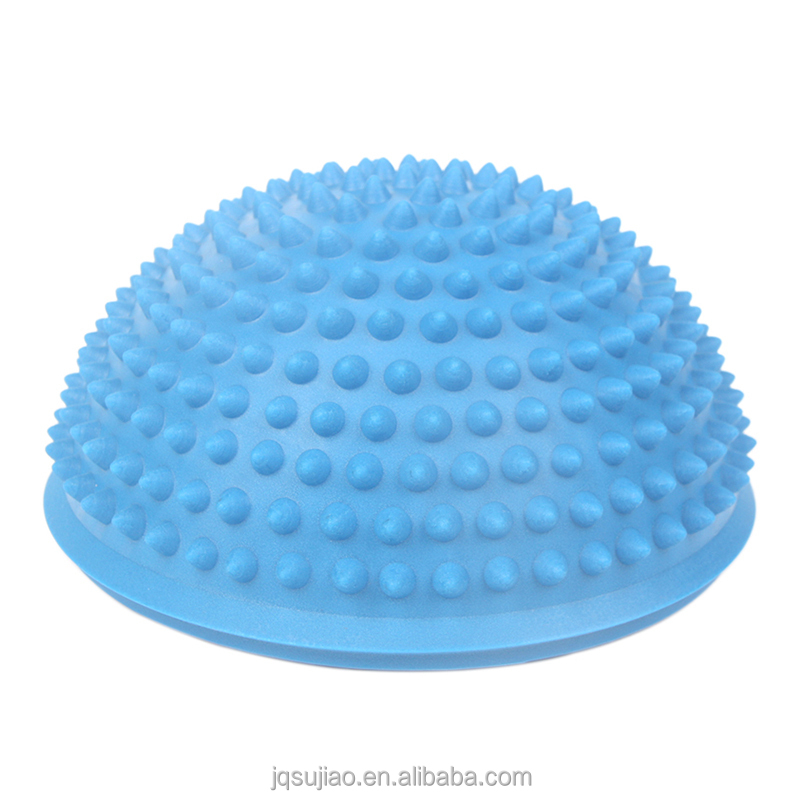 Fitness gym PVC yoga half round massage ball/Colorful PVC yoga Mini massage ball/half balance ball