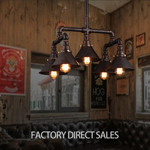 Loft light American Lighting lamp iron water pipes Vintage pendant light for Bar Cafe Restaurant Internet cafes