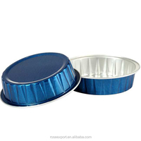 Small round 80ml 2.7oz aluminum foil baking cups coloured aluminum foil containers with lid cupcake case wholesale