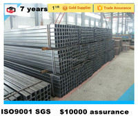 high strength black welded steel tube and steel hollow section for truck