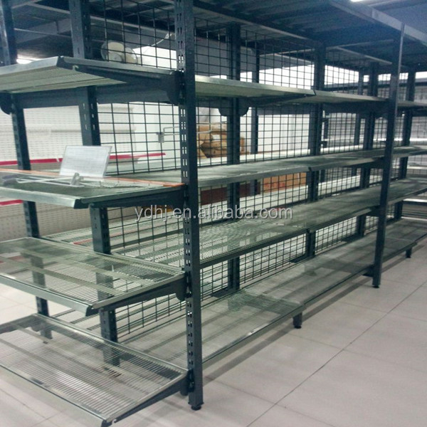 Zinc Plated Metal Wire Display Rack For Supermarket Use