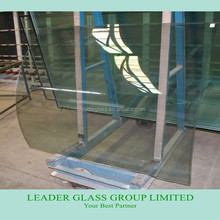 High Quality New Production Clear Curved Tempered Glass For Building