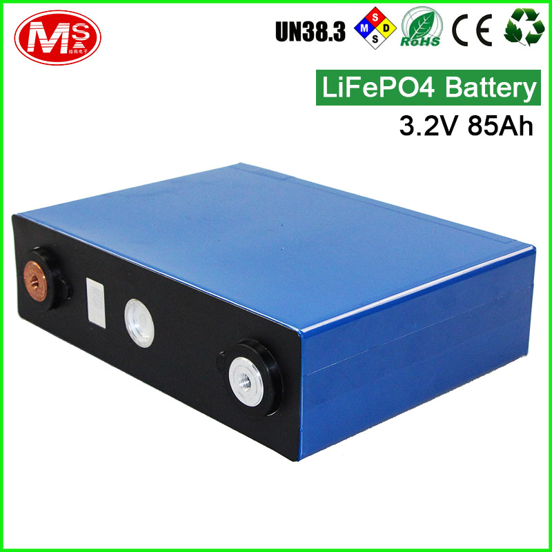 china manufacture original lifepo4 battery 3.2v 85ah pack for solar system