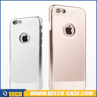 Cheap price hard back 2 in 1 PC aluminum metal case for iphone 4 5 6 6 plus