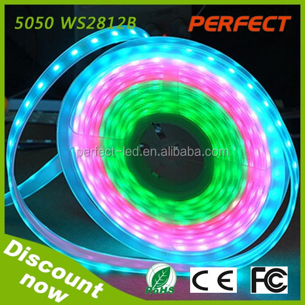 High quality led smd 5050 IC WS2812B led flexible strip for decoration