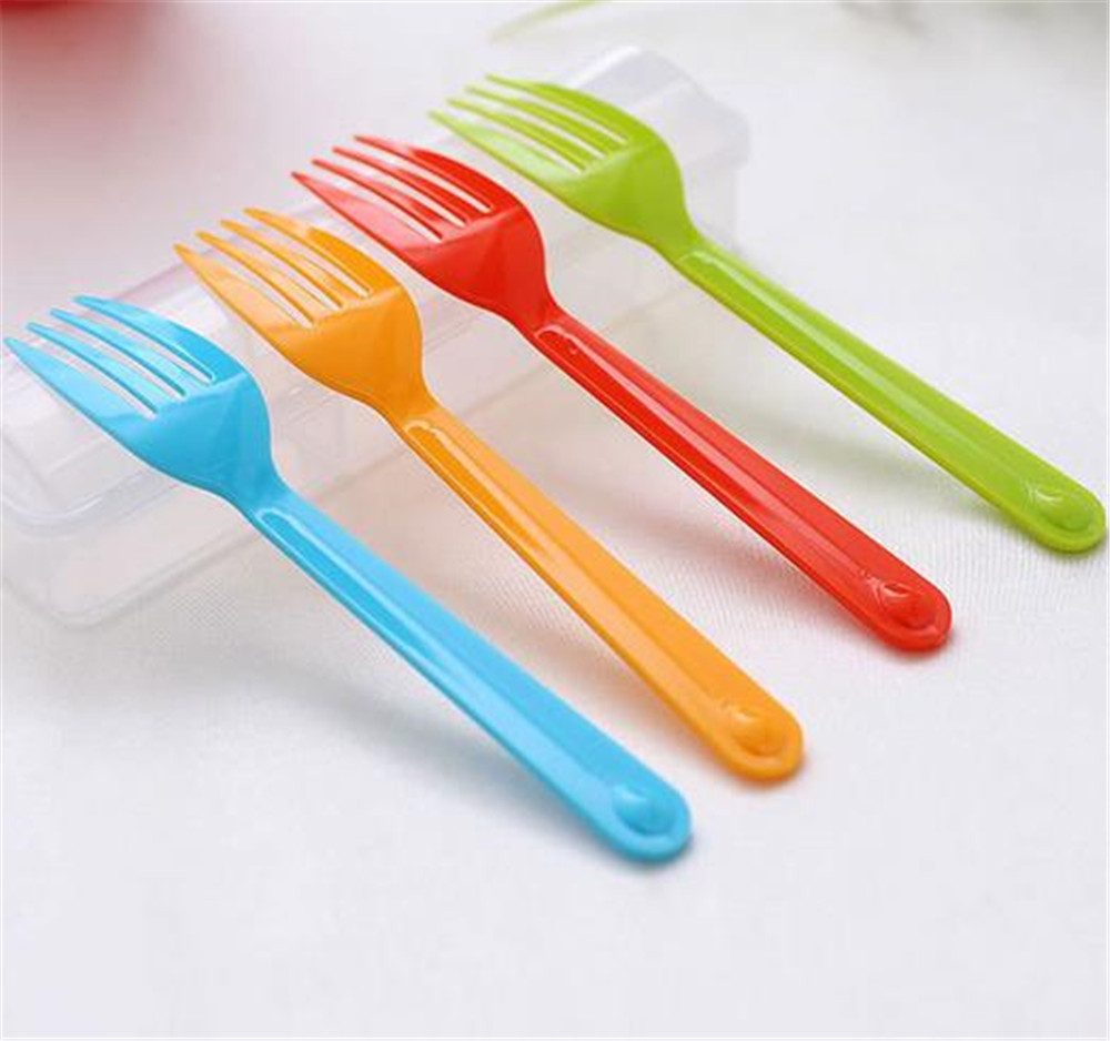 Hot sale recycled clean disposable cocktail colourful plastic forks