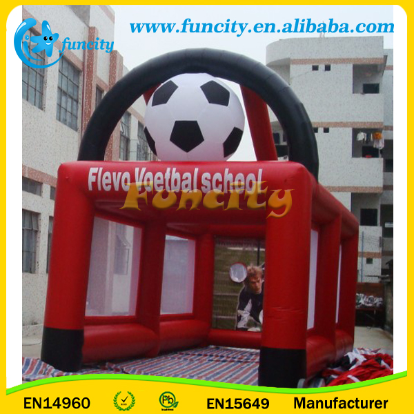 Customized Logo Inflatable Football Goal , Inflatable Soccer Games For Sales