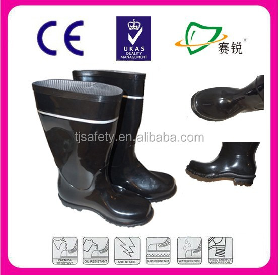 New Fashion Cheap Black Work PVC Gumboots