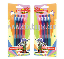 Fine brand color pen set/custom logo pen/promotional gel ink pen