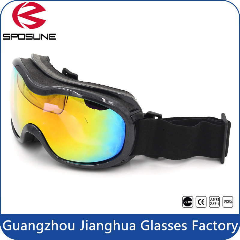Black strap and frame snow and rock womens ski goggles