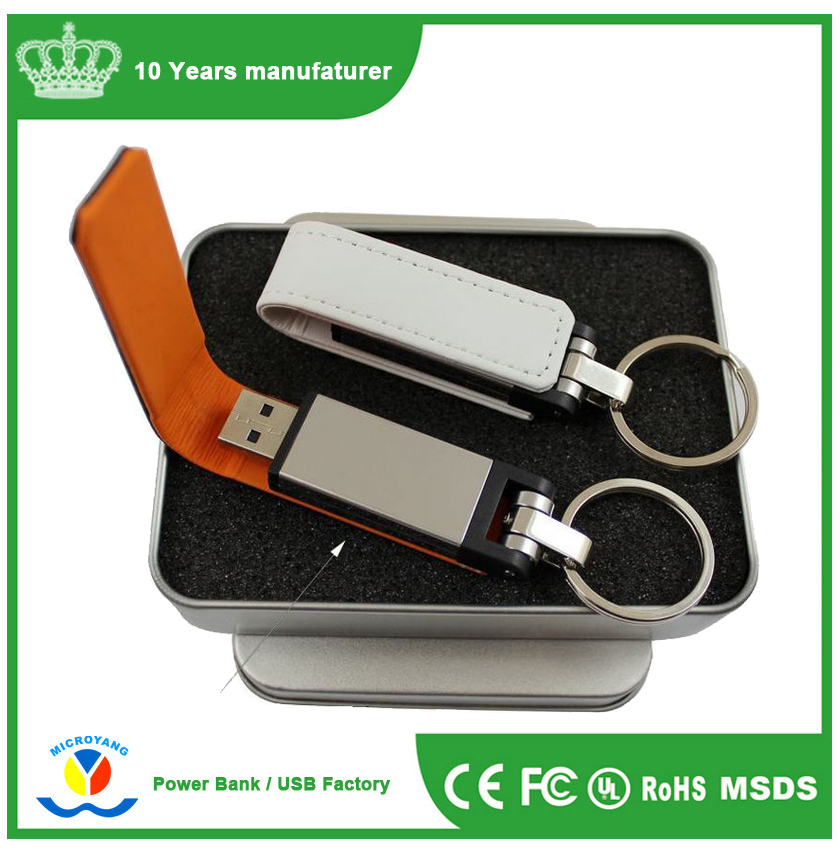 Factory price brand Chip set leather USB DISK