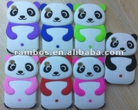 Popular 3d mix color silicone panda design case soft protective case for IPod Touch 4