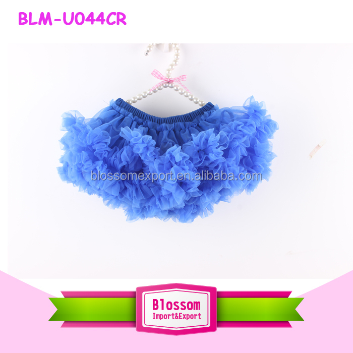 2017 wholesale baby diaper cover ruffle bloomers skirt solid color red petti ruffle tutu skirt bloomers