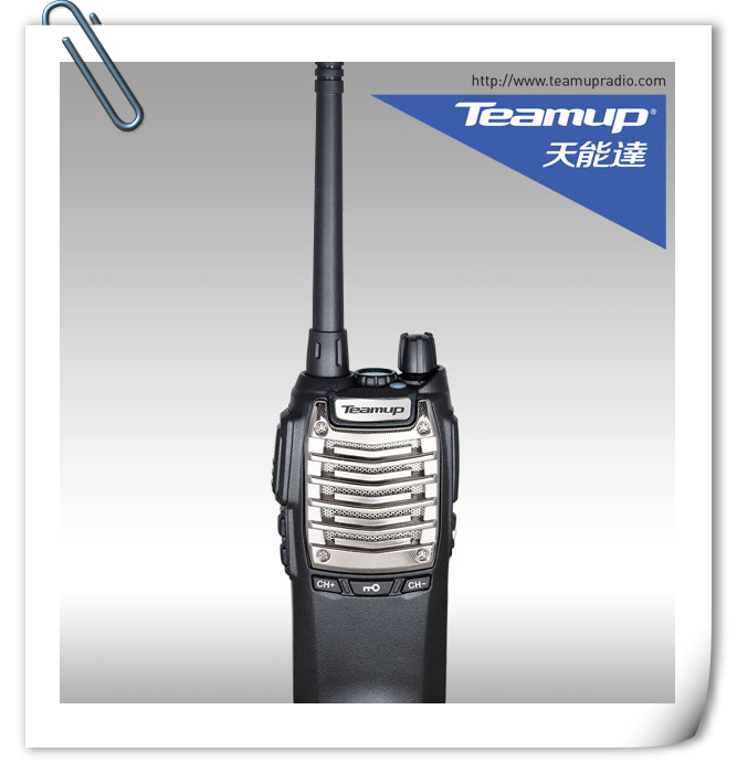 Teamup factory T9000 uhf 5W two way radio handy talkiy with high-bright LED flashlight