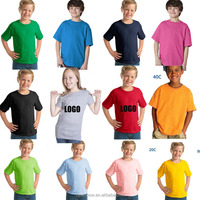 High quality plain 100% cotton t shirt for kids 2016