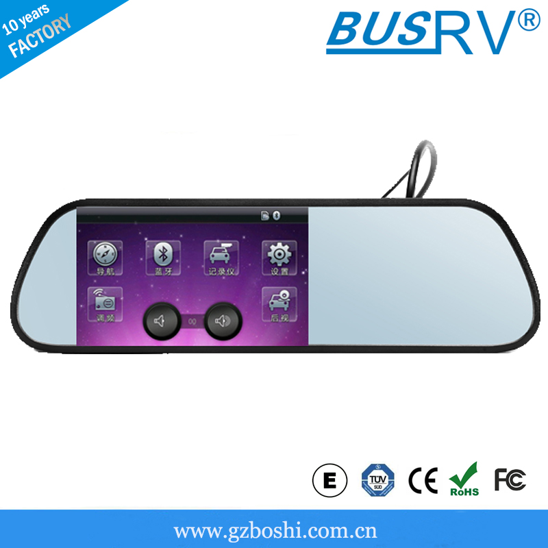 5 inch car auto dimming rearview mirror with gps and recording SF-5188