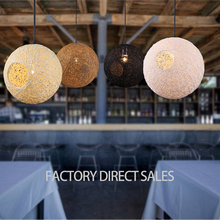 Hot Iterm Nordic modern simple Woolen Rattan Hemp ball pendant light for Bar Cafe Bedroom