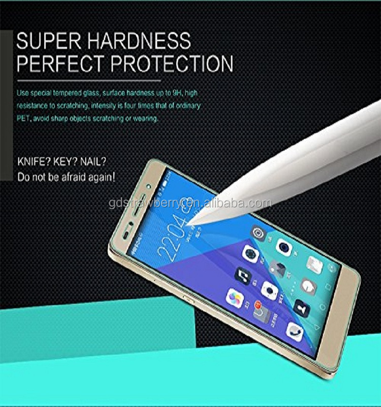 screen protector manufacturer anti-shock clear tempered glass for huawei honor 7