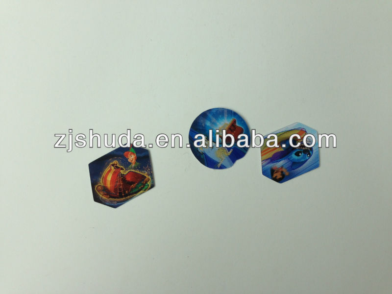 PP 3D lenticular card 3D flip Cards 3d premiums stickers