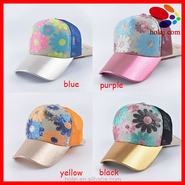 Adjustable Floral Trucker Snapback Cap Snapback Baseball Cap Hat for Women Girls with Stylus