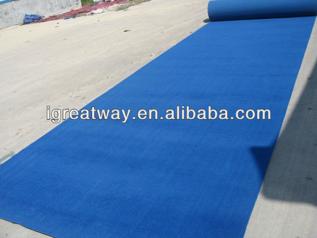 Velour royal blue carpet