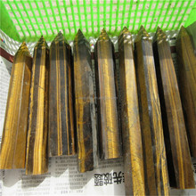 Natural tiger eye crystal columns for wedding decorations