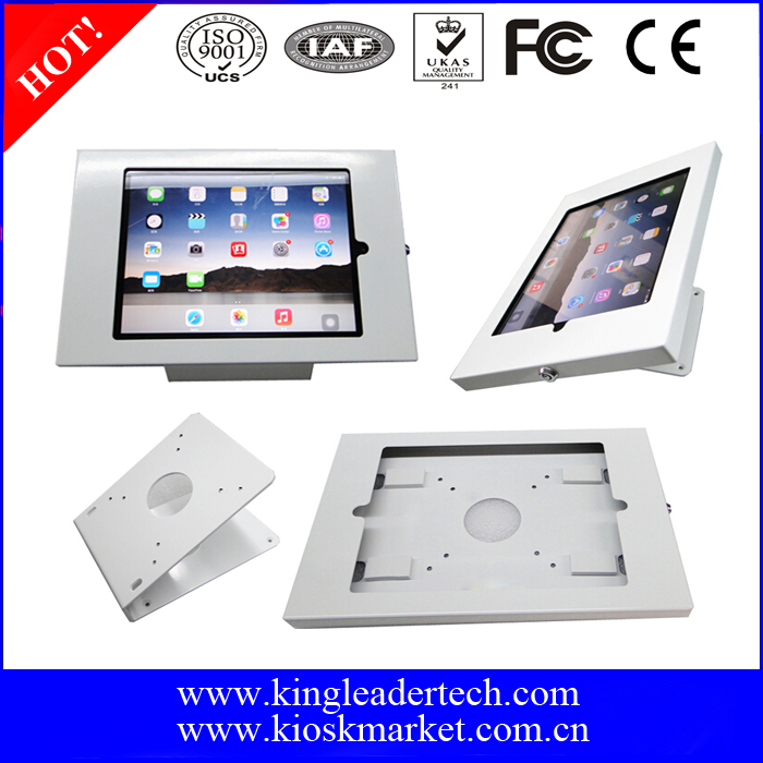 Lockable anti-theft enclosure wallmount or stand for Ipad mini