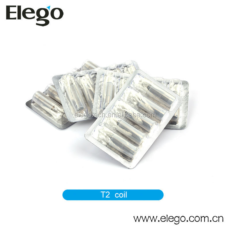 Huge Vapor E Cigarette Heating Coil Original Kanger T2 Atomizer Head with Long Wicks Available