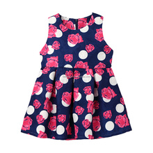 fashion dresses for 2-8 years girl Cute Kids Sleeveless dress summer