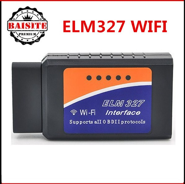 Good feedback Professional wifi version OBD2 OBDII car diagnostic scanner obd2 elm327 wi fi elm 327 wifi in stock
