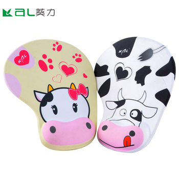 2019 DIY Print Promotional Lover Silicon Gel Mouse Pad with Hand Protect Wrist Rest