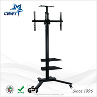 corner led tv stand model with wheels and mount made in china