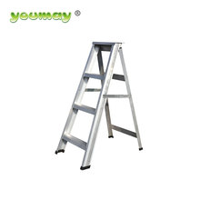 4 total step double sided aluminum step shelf ladder
