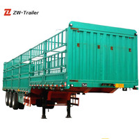 Customized Best Vehicles Cheap Good Quality Transporting Livestock Fence Semi Trailers