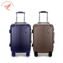 quality polyester rolling wheeled luggage travel bag with image