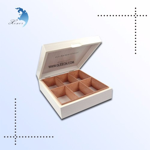 Cheap sample beautiful smooth shadow wooden tea box wholesale