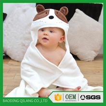 Bamboo Baby Hooded Towel | Puppy face | Organic Ultra Plush | Cashmere Soft White