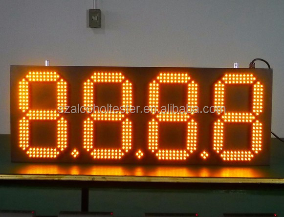 RS232 and wireless RF remote control Led price box Shenzhen Babbitt BT6A-8888R/Y/G/W Led digital gas price board