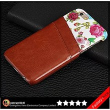"Keno Fashion Floral Flower Pattern PU Leather Phone Back Case Cover Skin Protector for iPhone 6 Case 4.7"" with Card Slots"