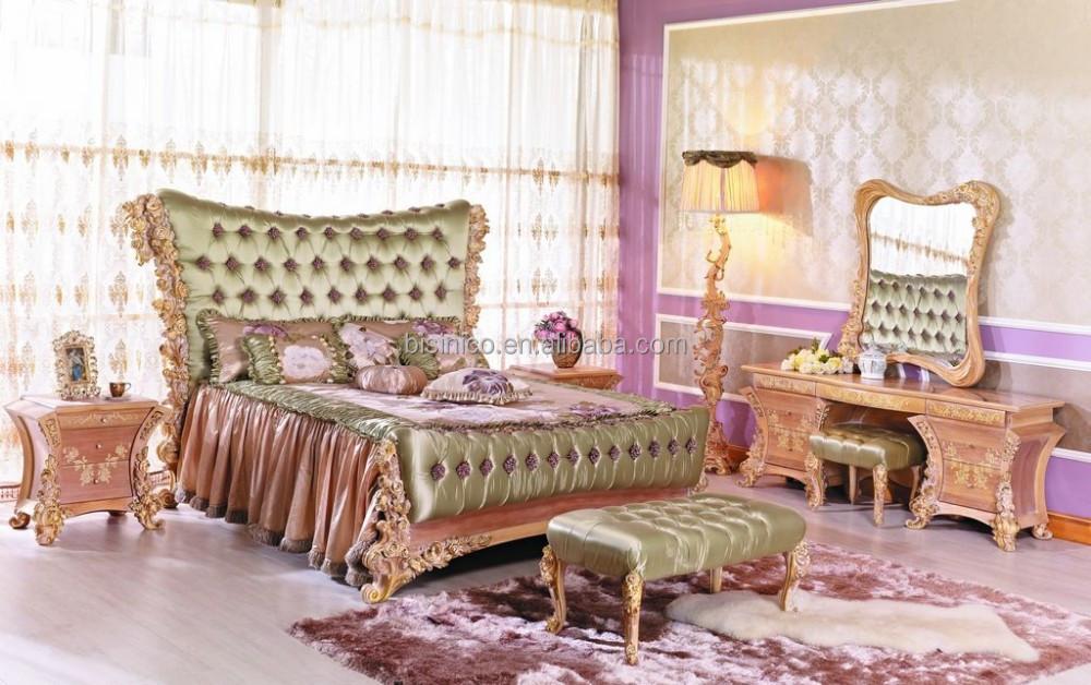 franz sisch luxus barock k nig polsterbett neue klassische rose zugekn pft zur ck holz. Black Bedroom Furniture Sets. Home Design Ideas