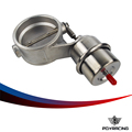 "PQY RACING-Exhaust Control Valve With Boost Actuator Cutout 2.5"" 63mm Pipe CLOSED with ROD PQY-ECV03+ROD"